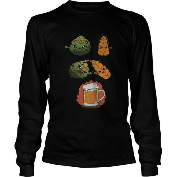 Hop And Malt Fusion To Beer  LongSleeve