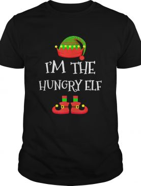 IM THE Hungry ELF Christmas Xmas Funny Elf Group Costume shirt