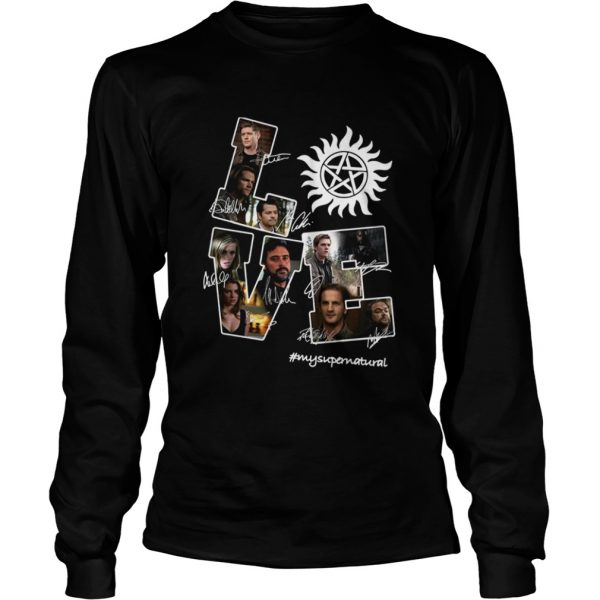 Love Supernatural all members signature  LongSleeve