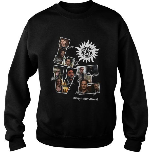 Love Supernatural all members signature  Sweatshirt