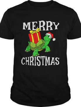 Merry Christmas Turtle Santa Hat Cute XMAS Present Gift shirt
