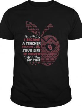 Oklahoma Sooners ugly fan gameday graduate I became a teacher Apple shirt