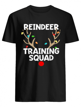 Pretty Christmas Running Reindeer Training Squad Matching 5k shirt