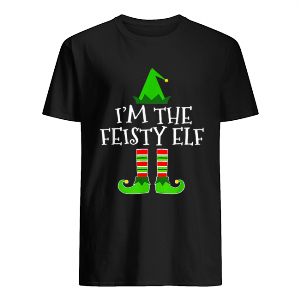 Pretty The Feisty Elf Family Matching Group Christmas Gift  Classic Men's T-shirt