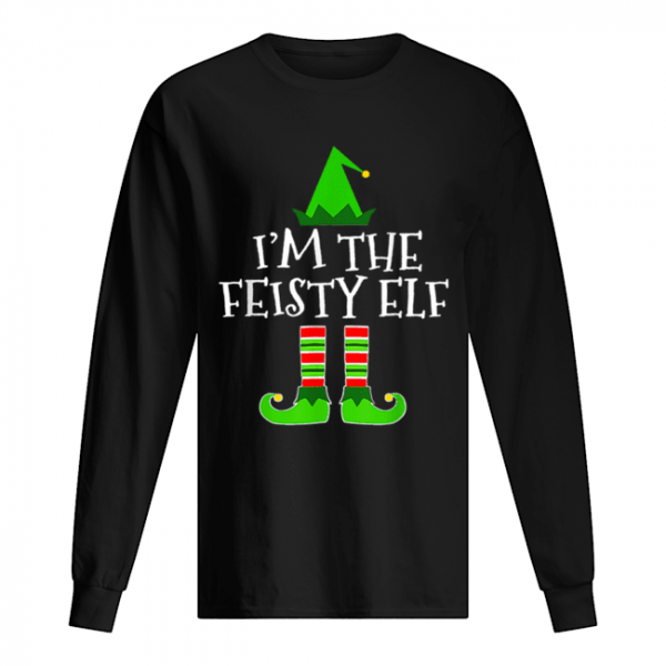 Pretty The Feisty Elf Family Matching Group Christmas Gift  Long Sleeved T-shirt