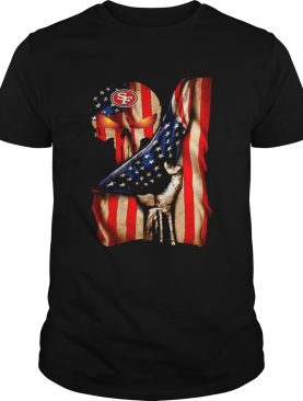 San Francisco 49ers Skull American Flag shirt