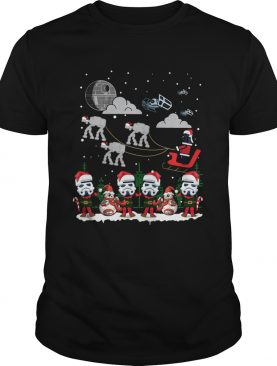 Santa Darth Vader Star Wars Stormtrooper Ugly Christmas shirt