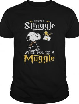 Snoopy Potter lifes a struggle when youre a muggle shirt