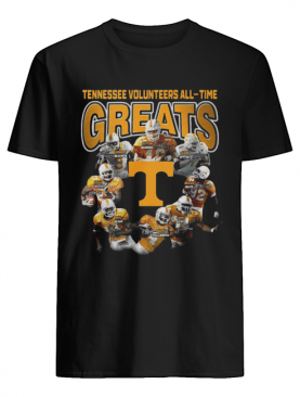 Tennessee Volunteers football All-time Greats Players Signatures shirt
