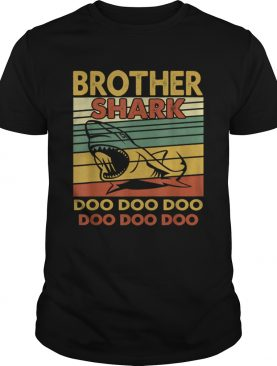 Vintage Brother Shark Doo Doo Santa Christmas Matching Gift shirt