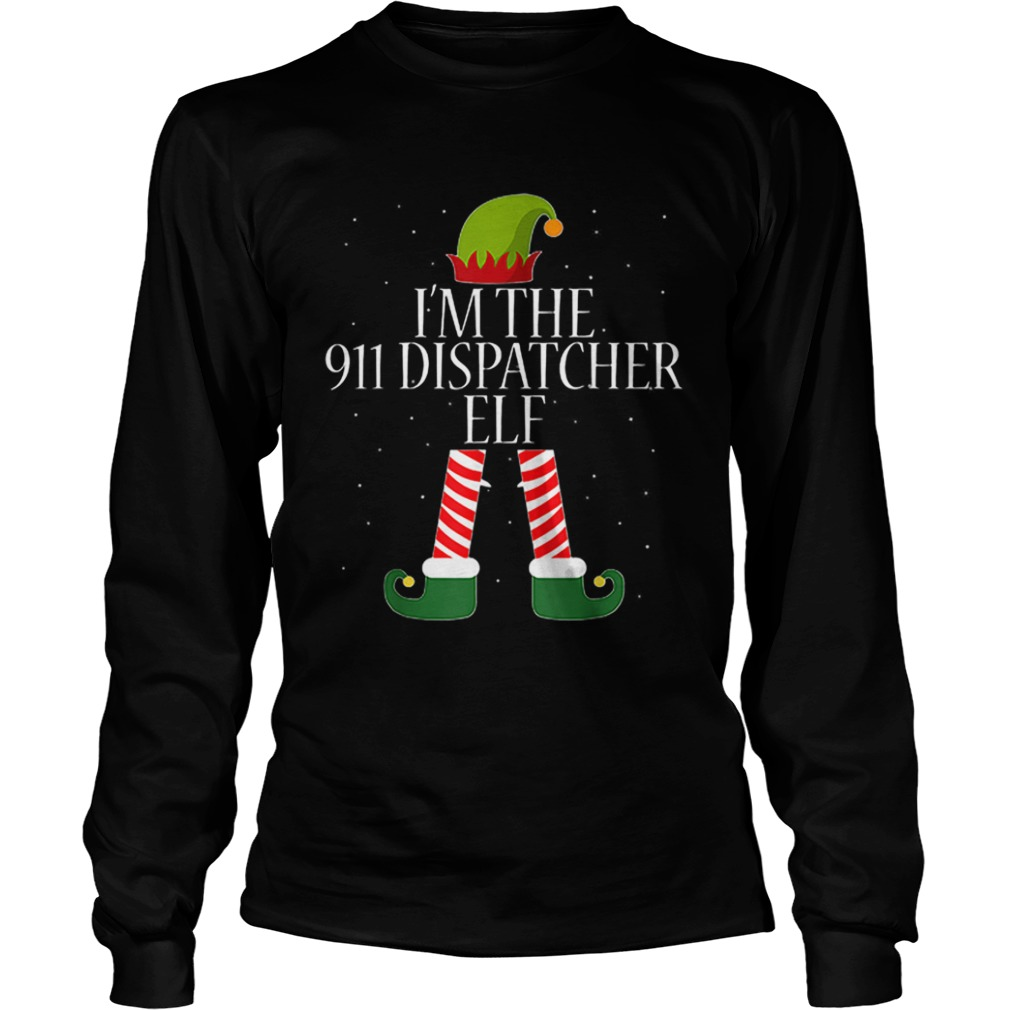911 Dispatcher Elf Funny Christmas Elves  LongSleeve