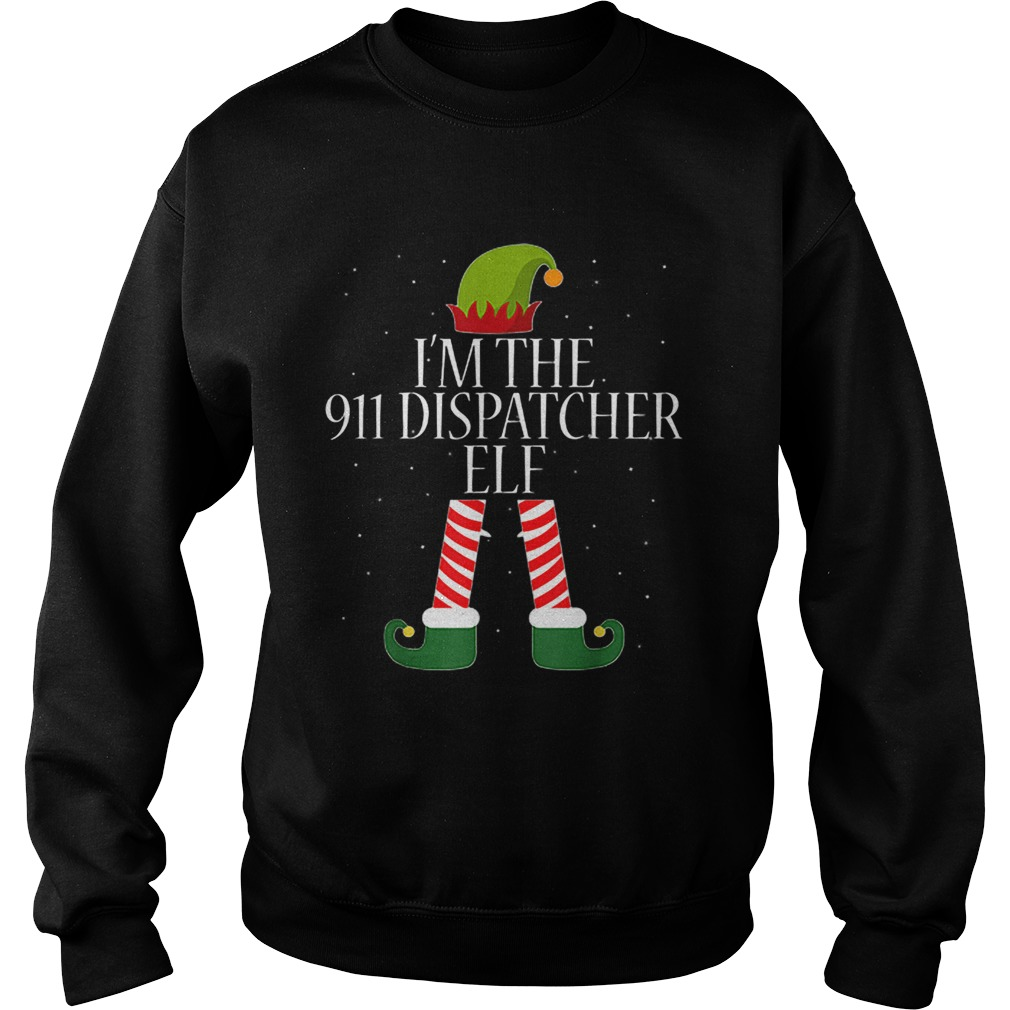 911 Dispatcher Elf Funny Christmas Elves  Sweatshirt