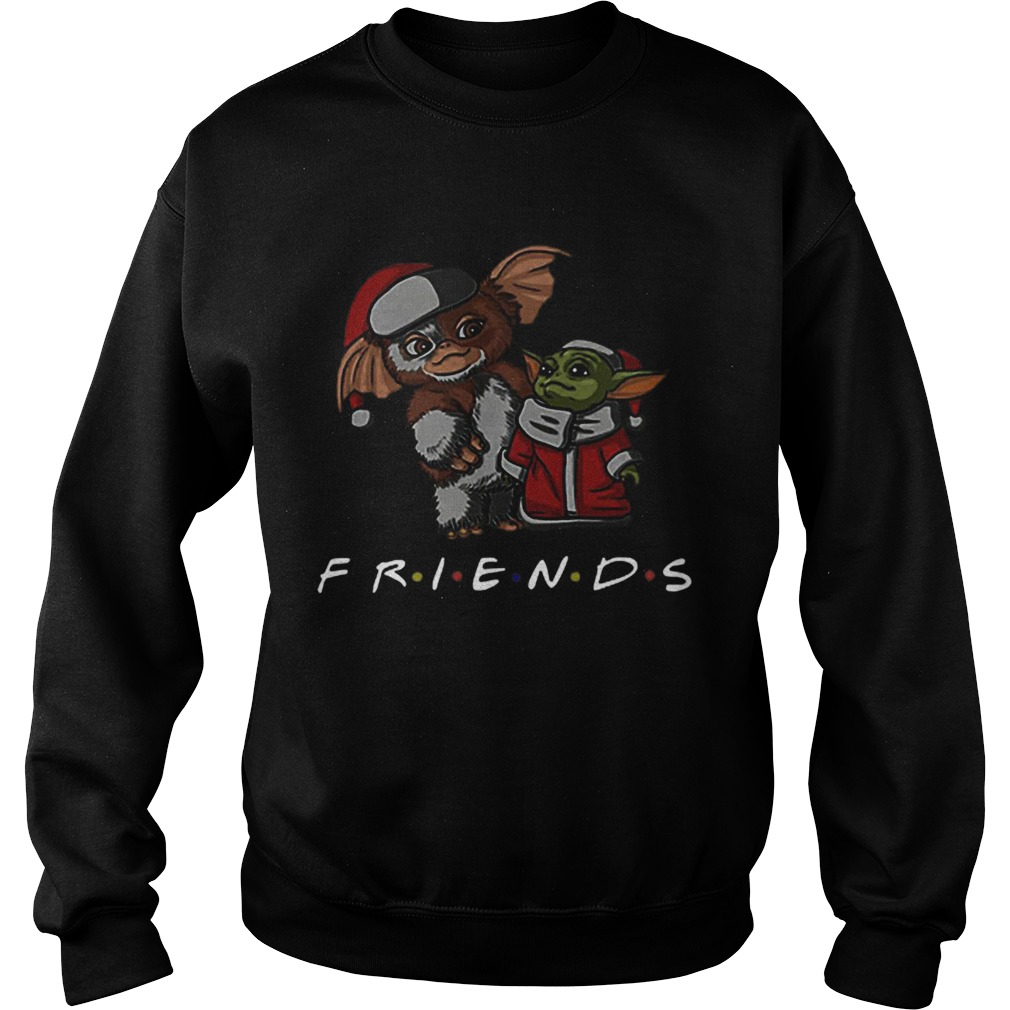 Baby Yoda and Baby Gizmo Santa Friends Christmas  Sweatshirt