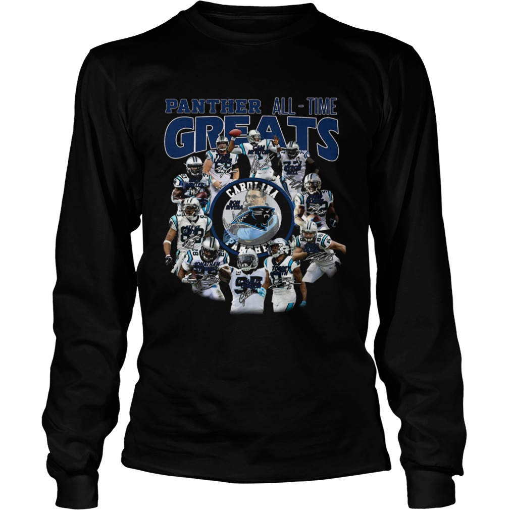 California Panthers all time greats players signatures  LongSleeve