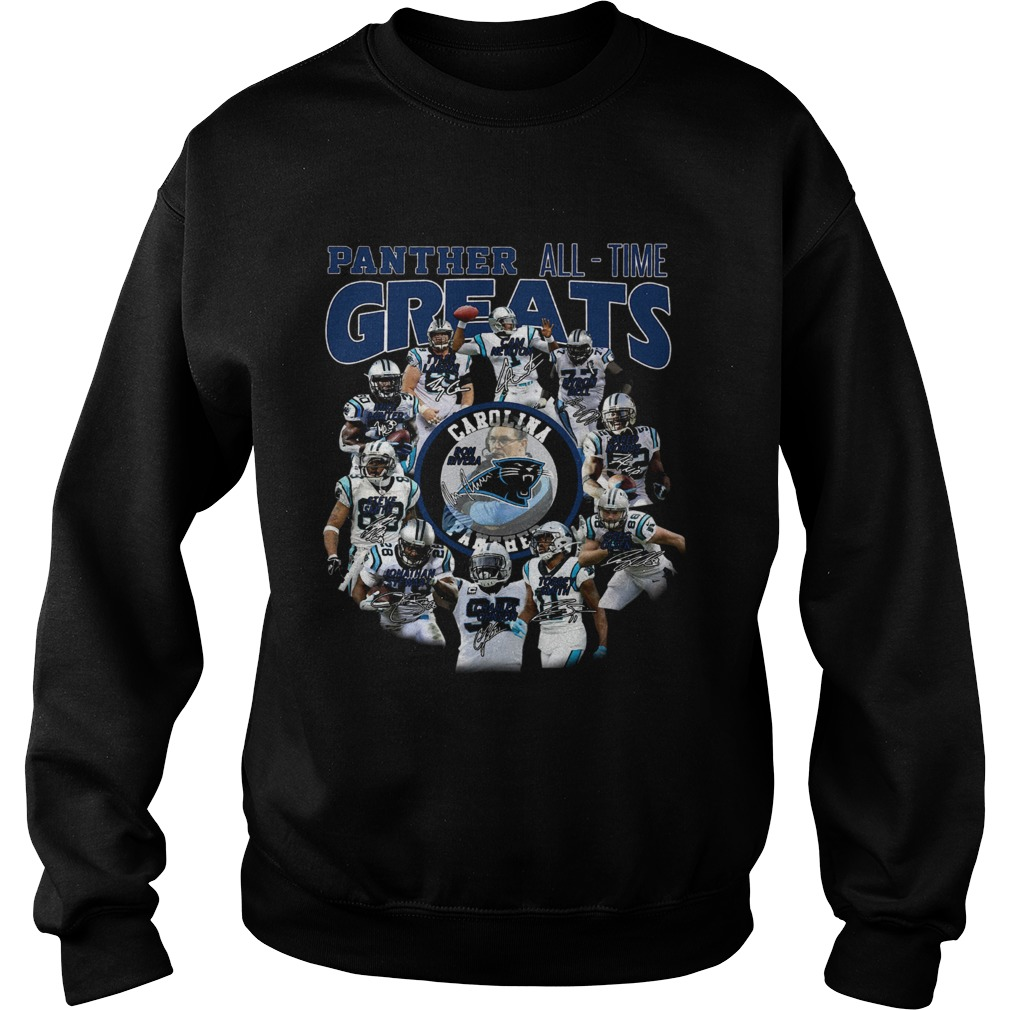 California Panthers all time greats players signatures  Sweatshirt