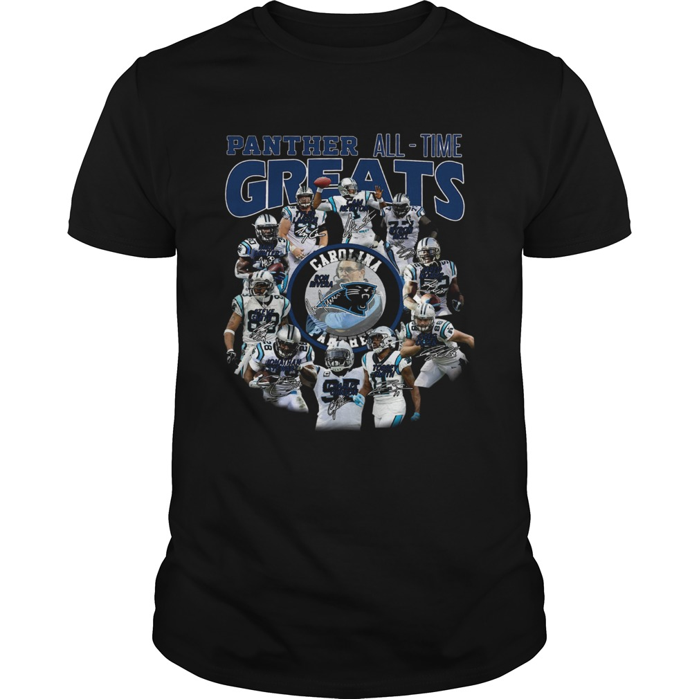 California Panthers all time greats players signatures  Unisex