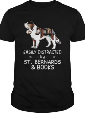 Easily Distracted By Saint Bernards And Books Crewneck shirt