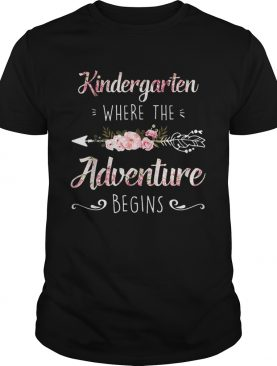 Flowers Kindergarten Where The Adventure Begins Floral shirt