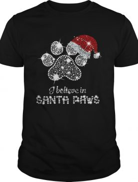 I Believe In Santa Paws Diamond Christmas shirt