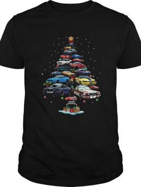 Mustang Car Christmas Tree shirt