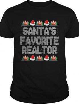 Santas Favorite Realtor Christmas Gift for Real Estate Agent shirt