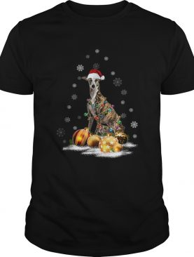 Whippet Christmas Dog Light shirt