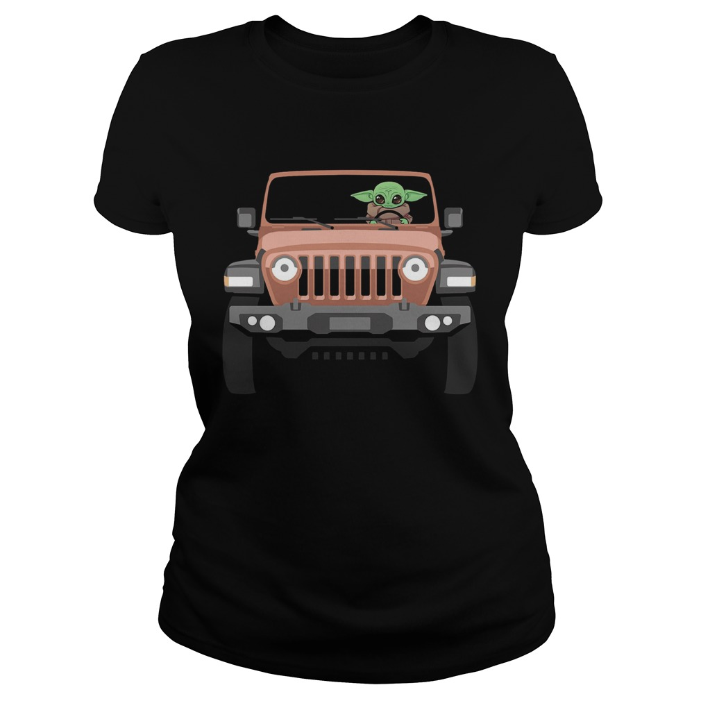Baby Yoda Driving Jeep  Classic Ladies