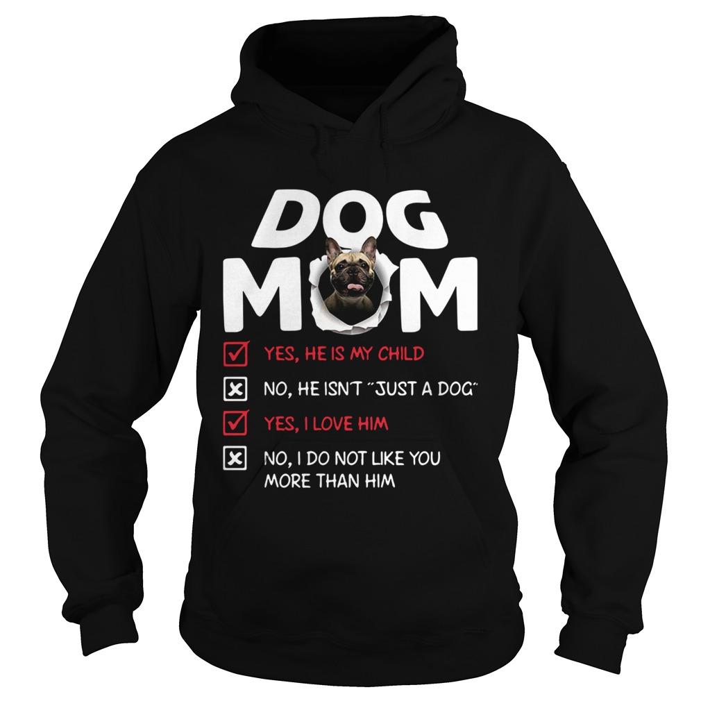 Bullmastiff Dog Mom Yes He Is My Child No He Isnt Just A Dog  Hoodie