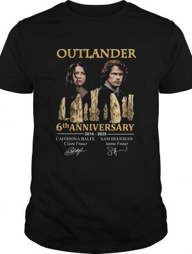 Outlander 6th Anniversary 2014 2020 Signatures shirt