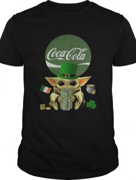 St Patricks Day Baby Yoda Hugging Coca Cola Green shirt