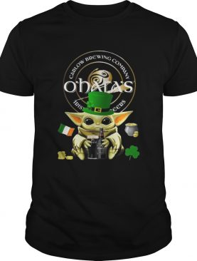 St Patricks Day Baby Yoda Hugging Oharas Irish Stout Beer shirt