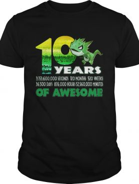 1581065392T-rex Dinosaur 10th Birthday Shirt for Awesome 9 Year Old shirt