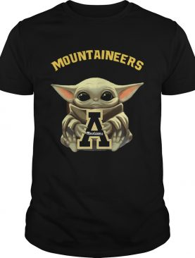 Baby Yoda hug Mountaineers shirt