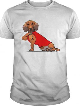 Dachshund I Love Mom Tattoo shirt