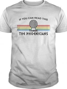 If You can read this thank the Phoenicians Disneys Spaceship Earth shirt L