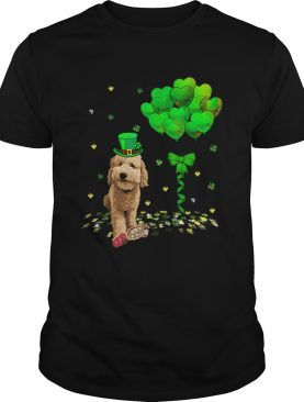 Beautiful Irish Golden Doodle Leprechaun Balloon St Patricks Day shirt