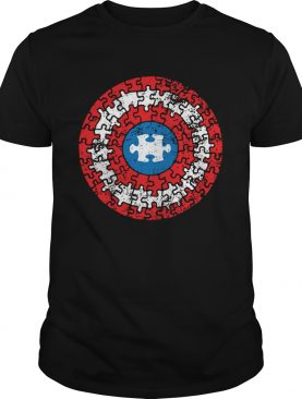 Captain autism superhero shield awareness shirt
