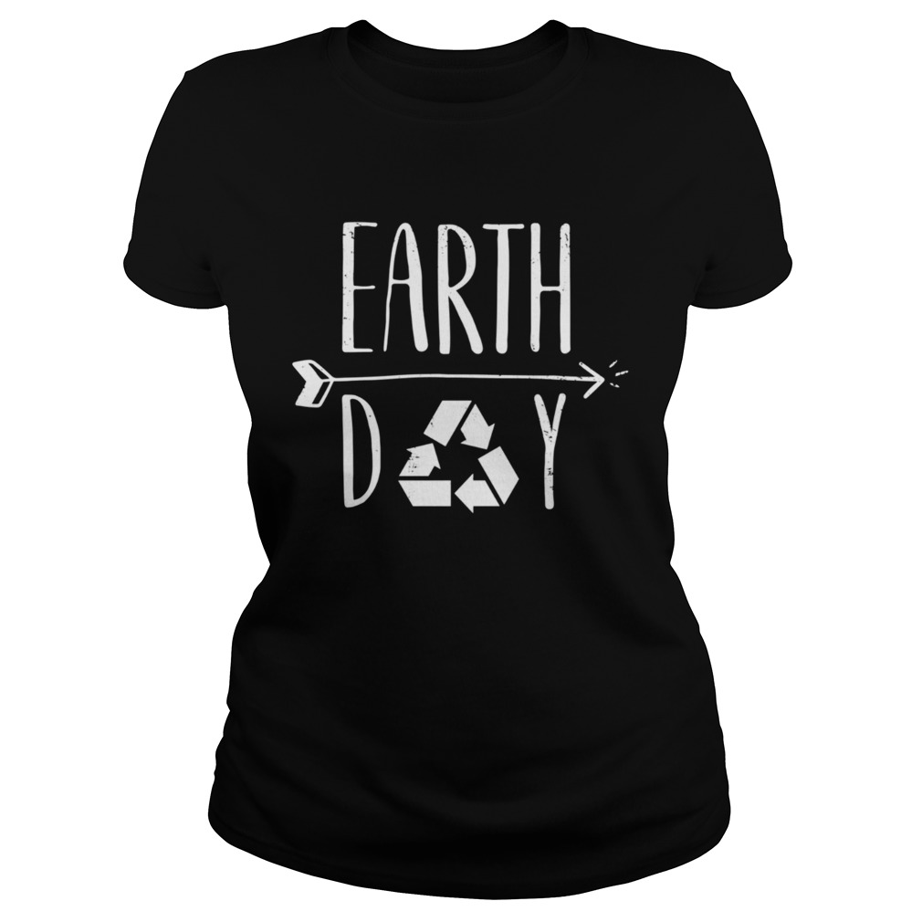 Earth Day 50th Anniversary Cute Vintage Recycling  Classic Ladies