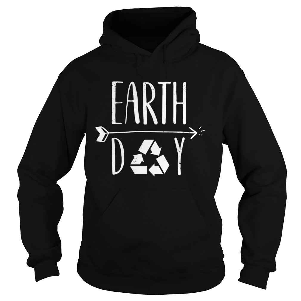 Earth Day 50th Anniversary Cute Vintage Recycling  Hoodie
