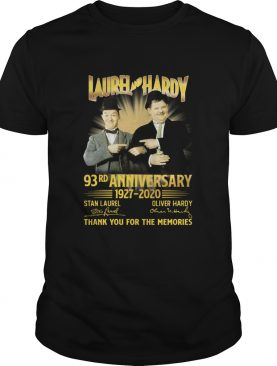 Laurel And Hardy 93rd Anniversary 19272020 Signatures Thank You For The Memories shirt