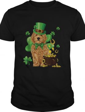 Nice Goldendoodle St Patricks Day Irish Dog Lover shirt