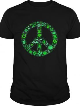 St Patrick Day Gifts for Men Women Hippie Peace Love shirt