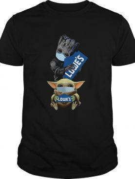 Baby Groot and Baby Yoda Face Mask Hug Lowes shirt