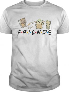 Pooh Penguin Baby Yoda Baby Groot Friends TV Show shirt
