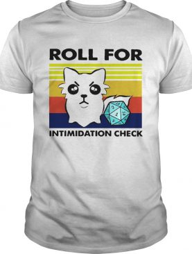 Roll For Intimidation Check shirt