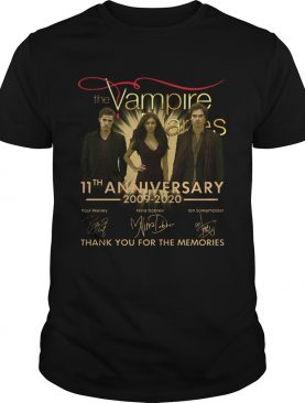 The Vampire Diaries 11th Anniversary 20092020 Signatures Thank You For The Memories shirt