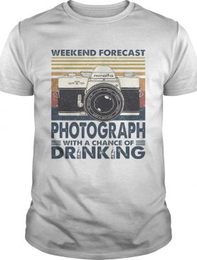 Forecast Photograph With A Chance Of Drinking Vintage shirt