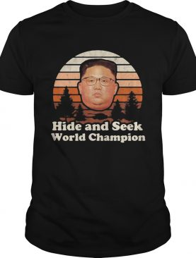 Kim Jong Un Hide And Seek Champion Vintage shirt