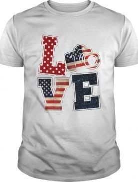 Love photographer American flag veteran Independence Day shirt