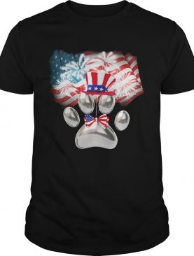 Paw American flag veteran Independence Day shirt